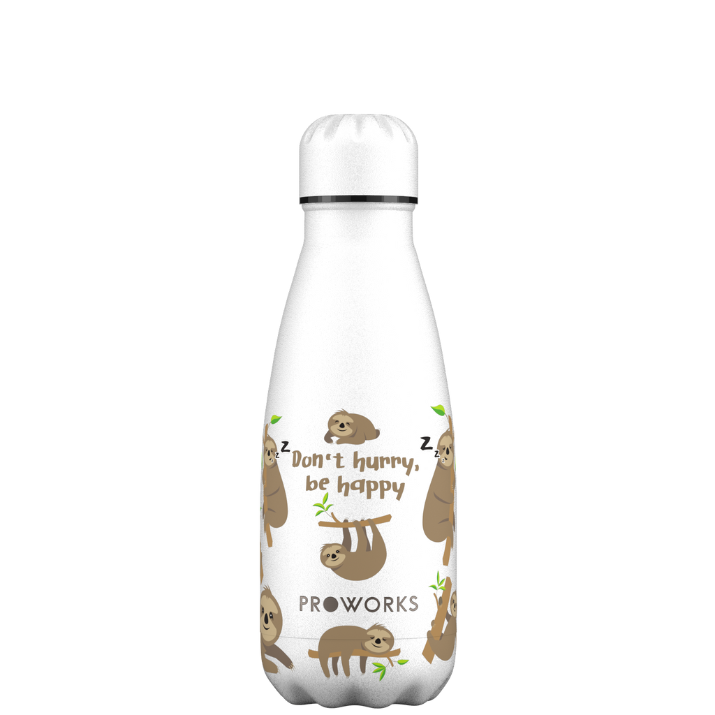 Proworks White Sloth 350ml Water Bottle