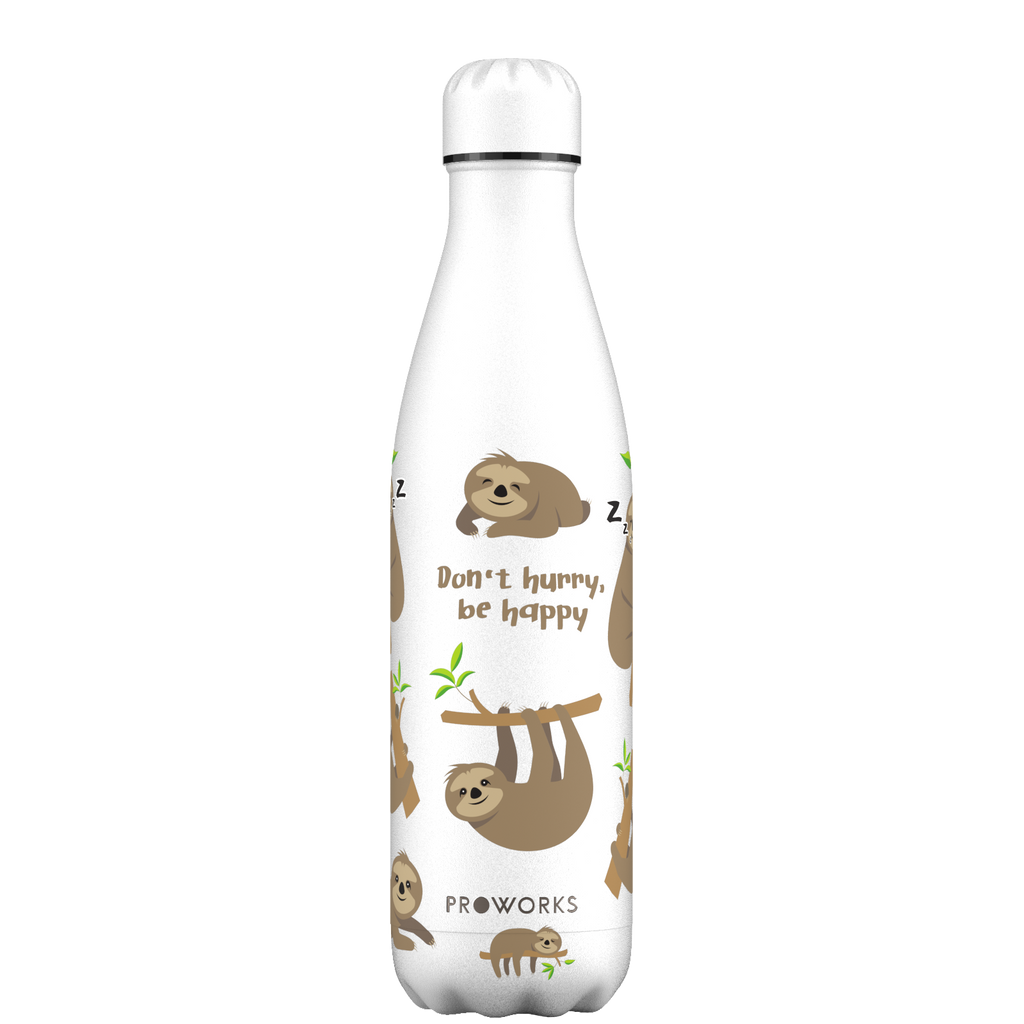 Proworks White Sloth 750ml Water Bottle