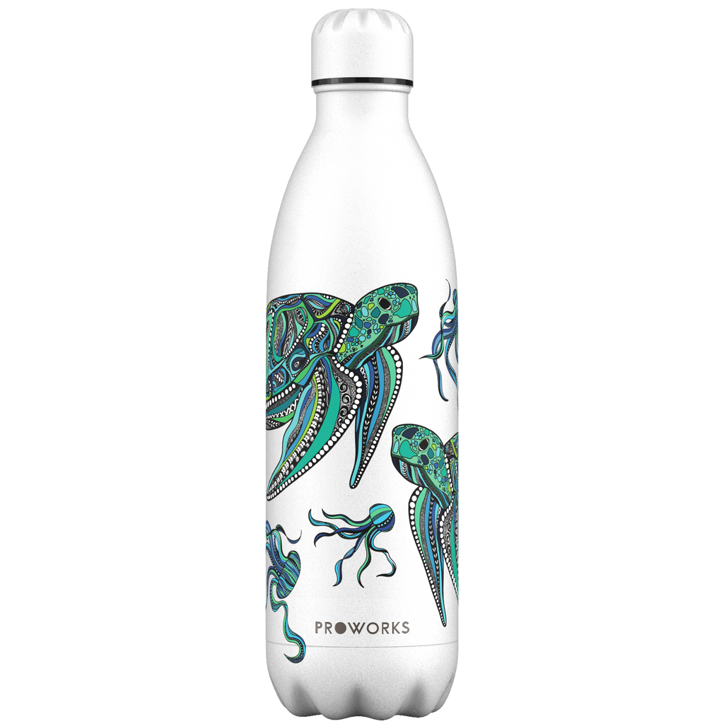 Proworks White Turtle 1L Water Bottle