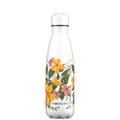 Proworks Yellow Floral 500ml Water Bottle