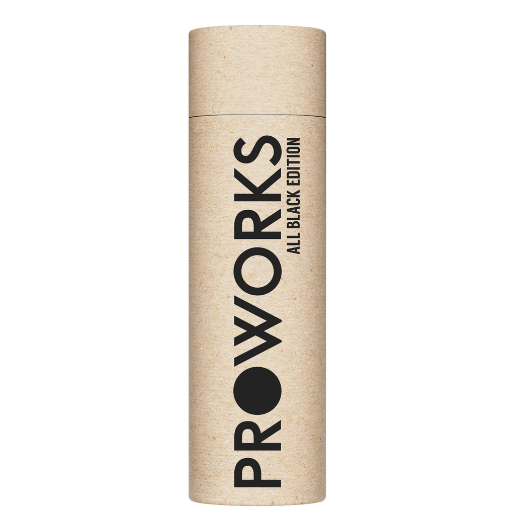 Proworks All Black 750ml  Water Bottle Packaging