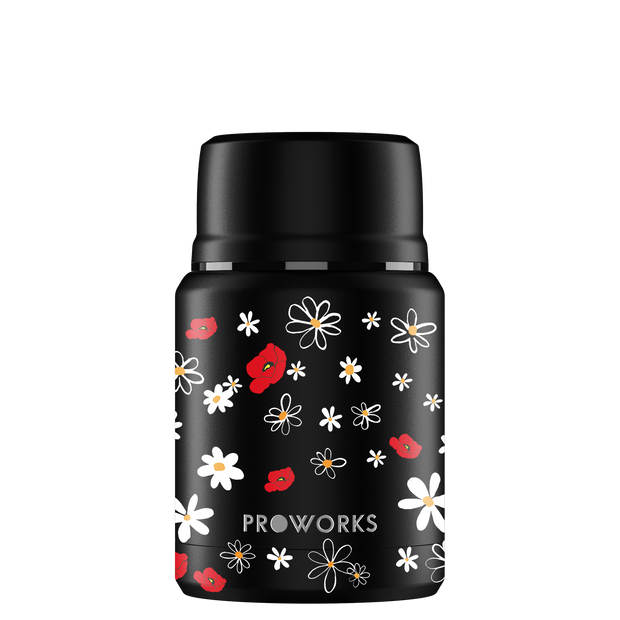 Proworks Black Daisy Food Flask 500ml