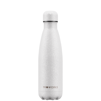 Proworks White Glitter 500ml Water Bottle
