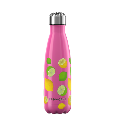 Proworks Hot Pink Lemon and Lime 500ml Water Bottle