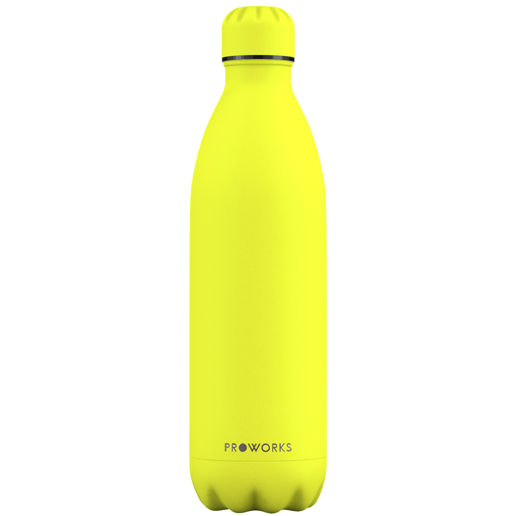 Proworks Lemon Sherbet Yellow 1L  Water Bottle
