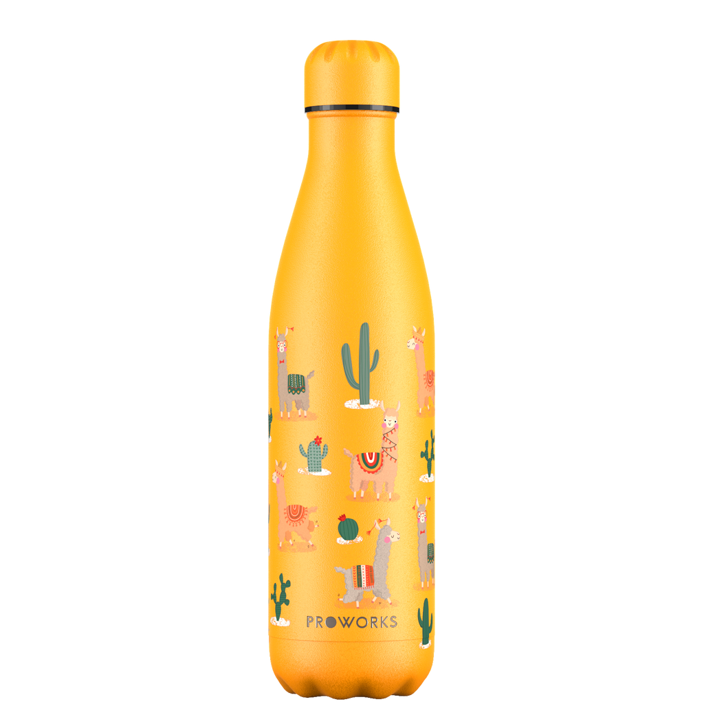 Proworks Llama and Cactus 750ml Water Bottle