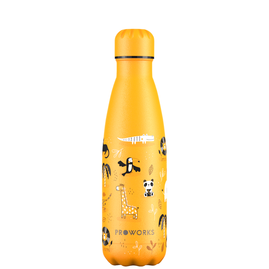 Proworks Mellow Yellow Safari Adventure 500ml Water Bottle