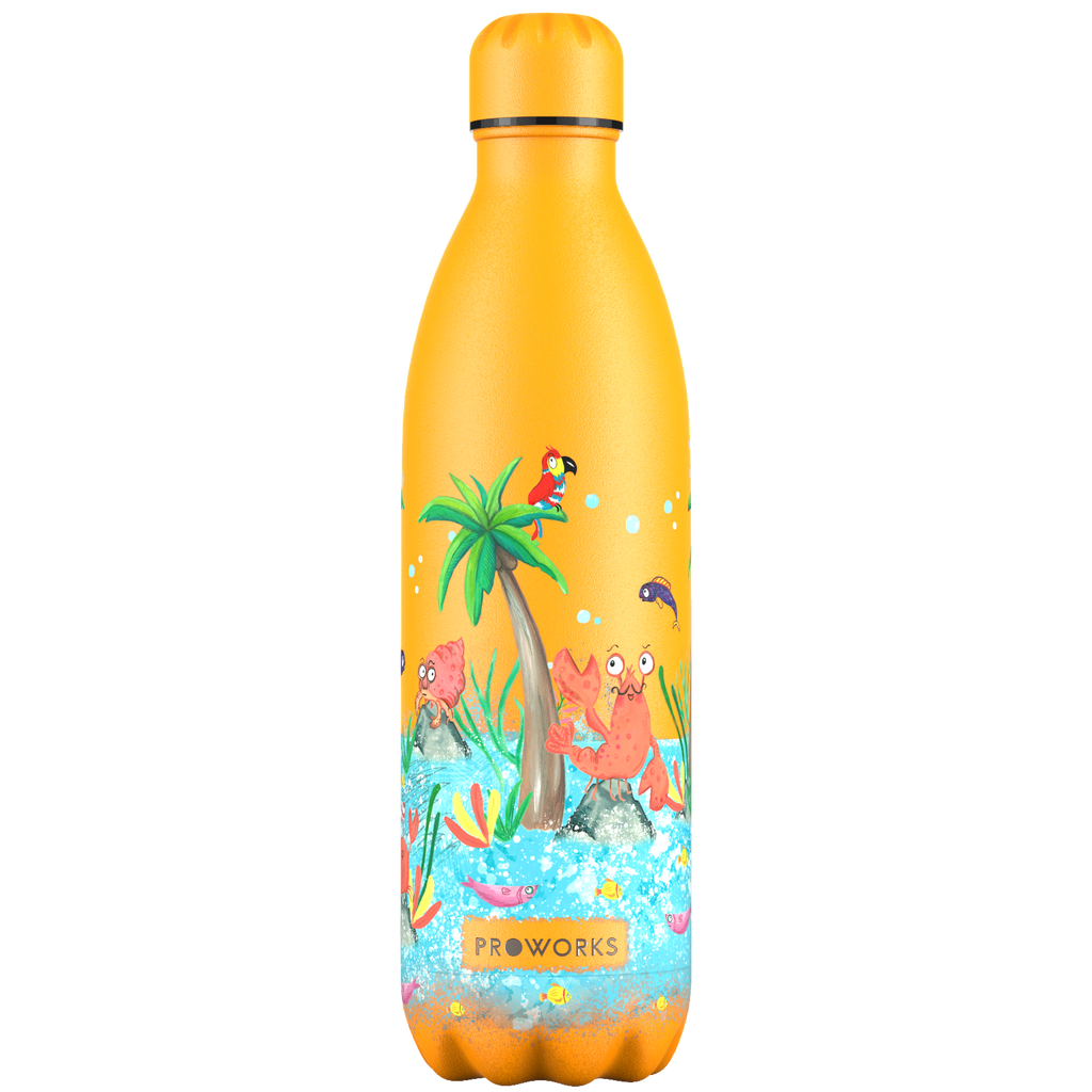 Proworks Mellow Yellow Tropical Edition 1L Water Bottle