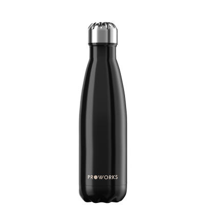 Proworks Metallic Black 500ml Water Bottle