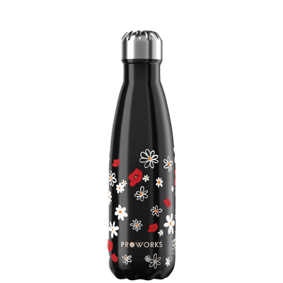 Proworks Black Daisy 500ml Water Bottle