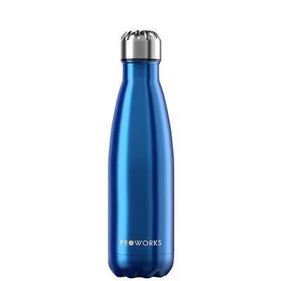 Proworks Metallic Blue 500ml Water Bottle