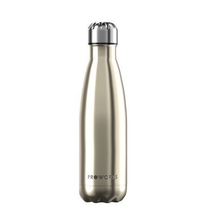 Proworks Metallic Gold 500ml Water Bottle