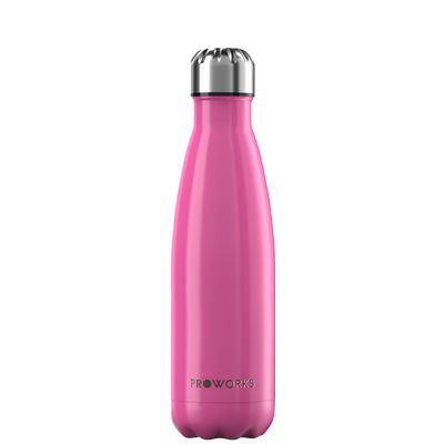 Proworks Metallic Pink 500ml Water Bottle