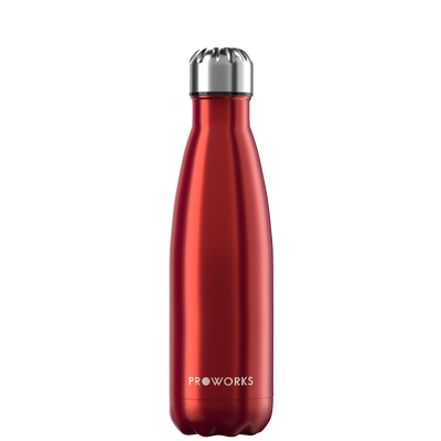 Proworks Metallic Red 500ml Water Bottle
