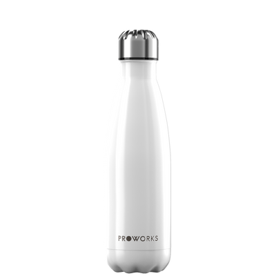 Proworks Metallic White 500ml Water Bottle