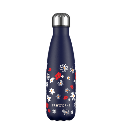 Proworks Midnight Blue Daisy 500ml Water Bottle