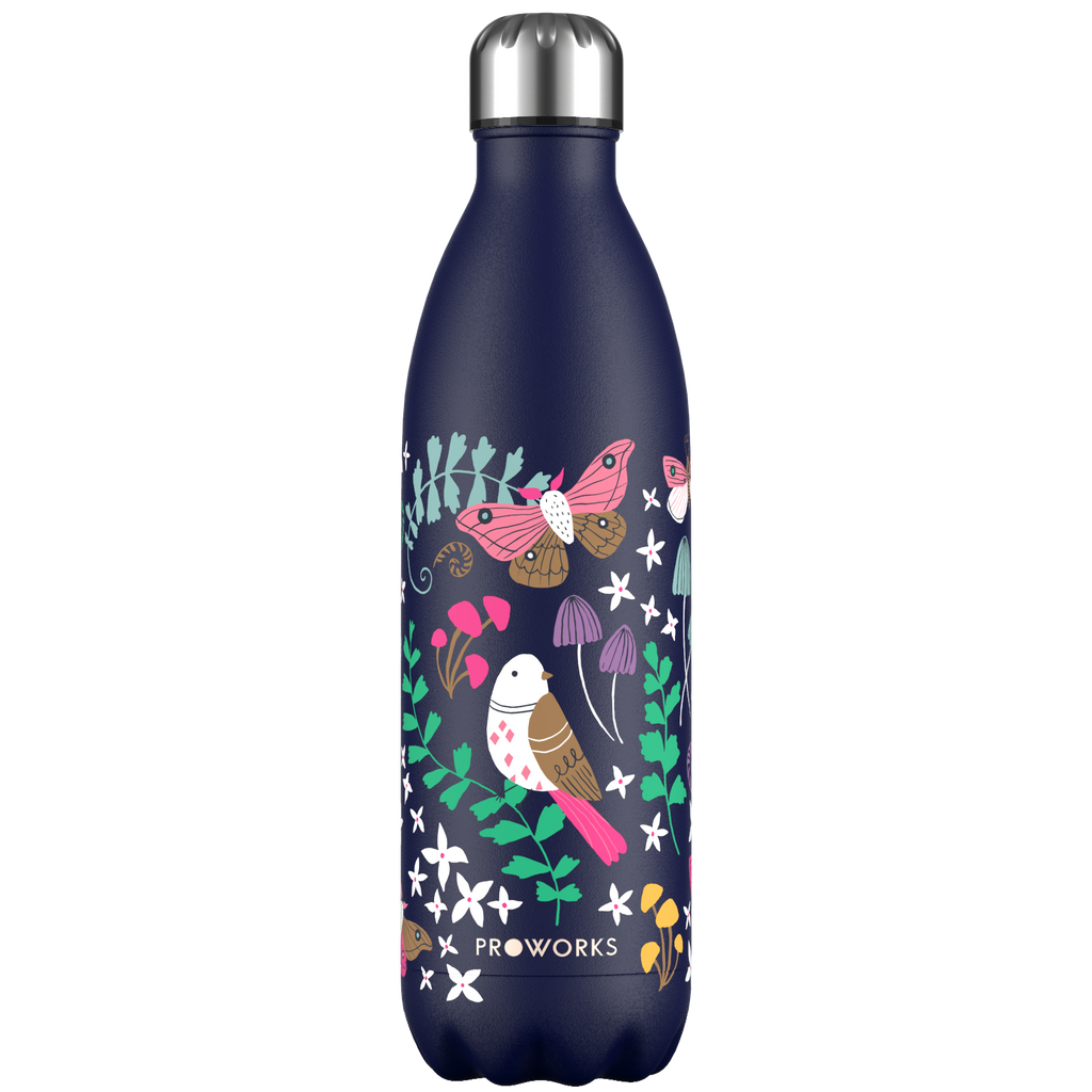 Proworks Midnight Blue Woodland Magic 1L Water Bottle