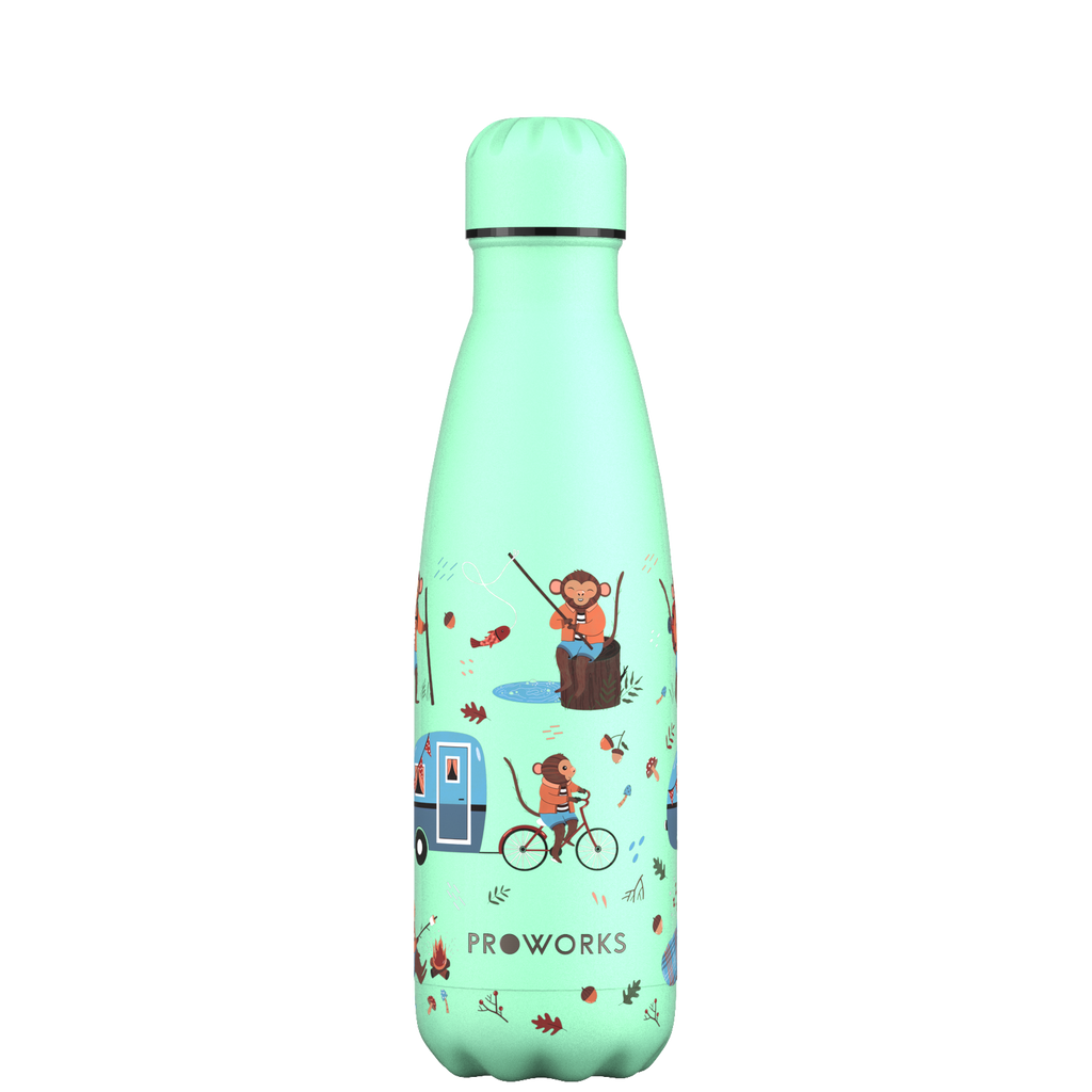 Proworks Neo Mint Monkey Holiday 500ml Water Bottle