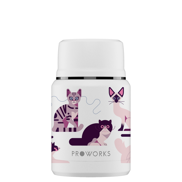 White Cats Food Flask 500ml
