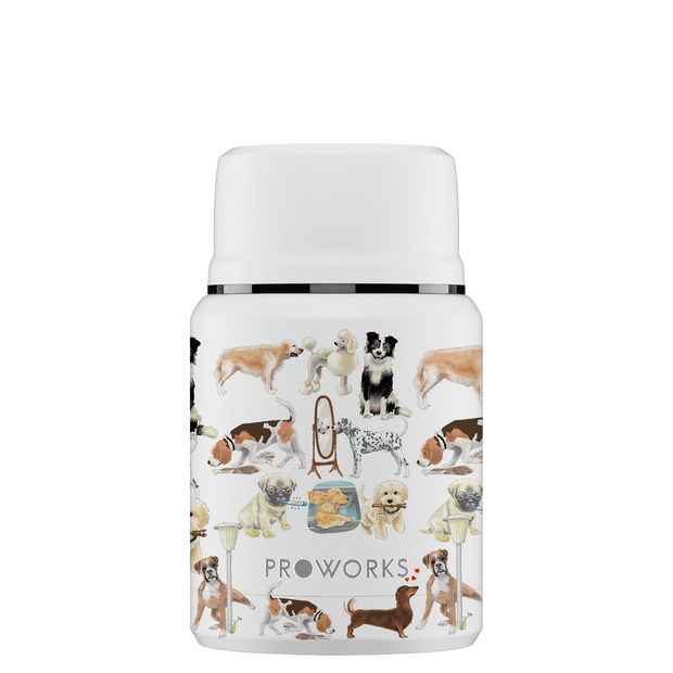 Proworks White A Dogs Tail Food Flask 500ml