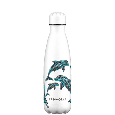 Proworks White Dolphin 500ml Water Bottle