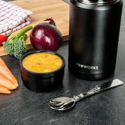 Proworks All Black Food Flask