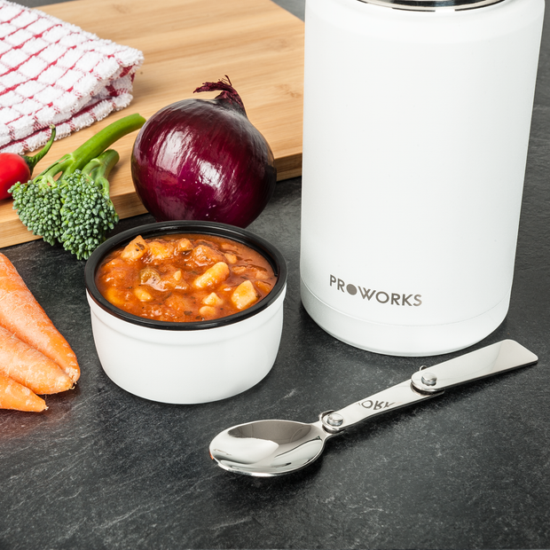 Proworks White Food Flask