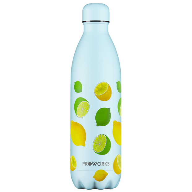 Proworks Purist Blue Lemon and Lime 1L Water Bottle