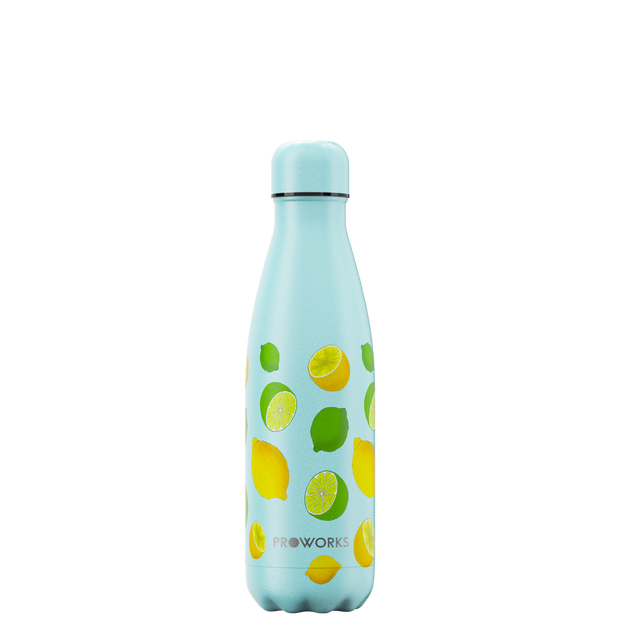 Proworks Purist Blue Lemon and Lime 500ml Water Bottle
