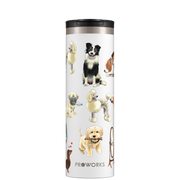 Proworks White A Dogs Tail 500ml Travel Mug