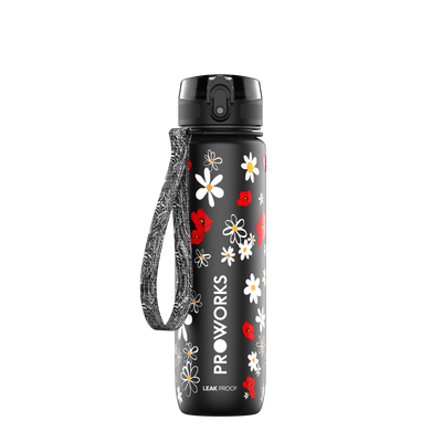 Proworks Black Daisy 500ml Sports Bottle