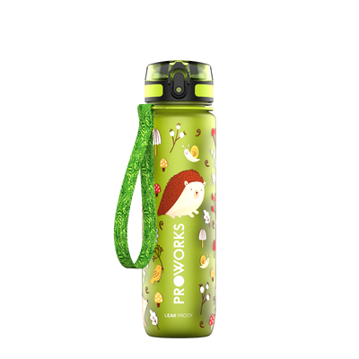Proworks Green Hedgehog 500ml Sports Bottle