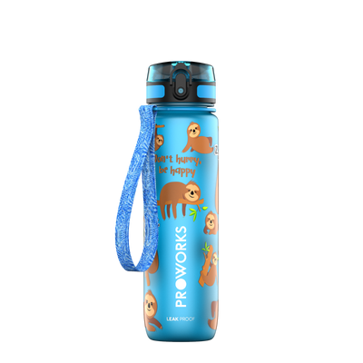 Proworks Light Blue Sloth 500ml Sports Bottle