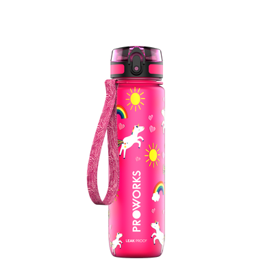 Proworks Pink Unicorn 500ml Sports Bottle