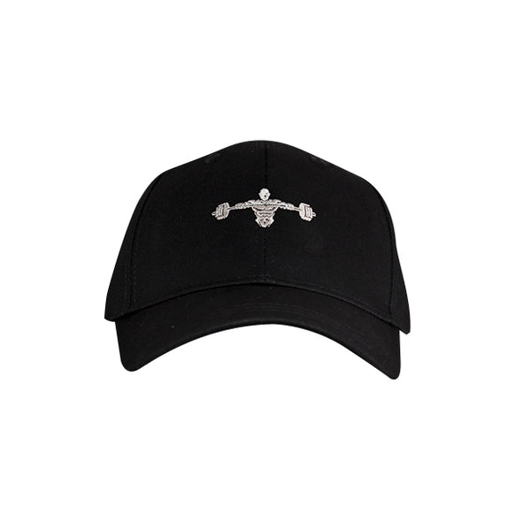 Weightlifter Baseball Hat Black