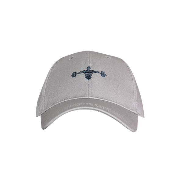 Weightlifter Baseball Hat Grey