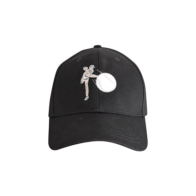 Baseball Pitcher Hat Black
