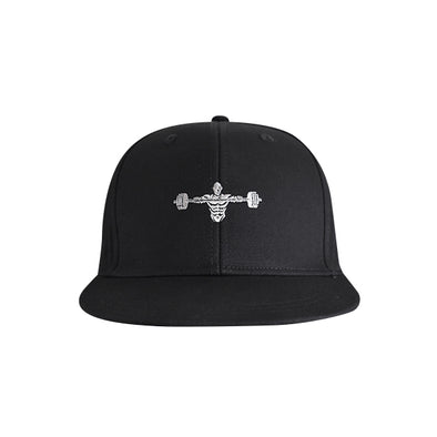 Weightlifter Flat Bill Urban Style Hat Black