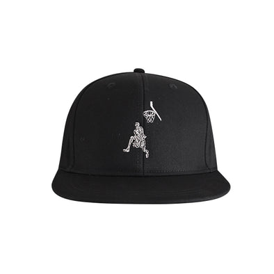 Basketball Flat Bill Urban Style Hat Black