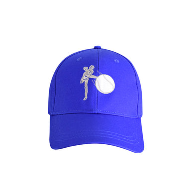 Baseball Pitcher Hat Blue