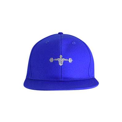 Weightlifter Flat Bill Urban Style Hat Blue