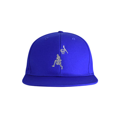 Basketball Flat Bill Urban Style Hat Blue