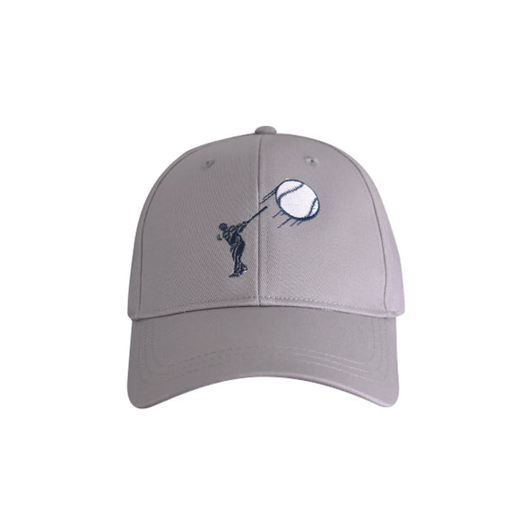 Baseball Hitter Hat Grey