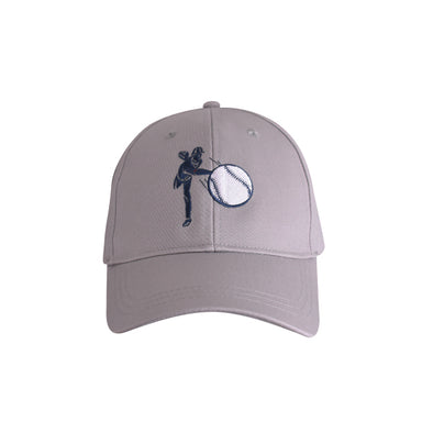 Baseball Pitcher Hat Grey