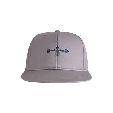 Weightlifter Flat Bill Urban Style Hat Grey