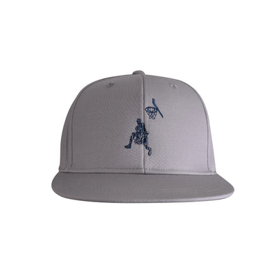 Basketball Flat Bill Urban Style Hat Grey