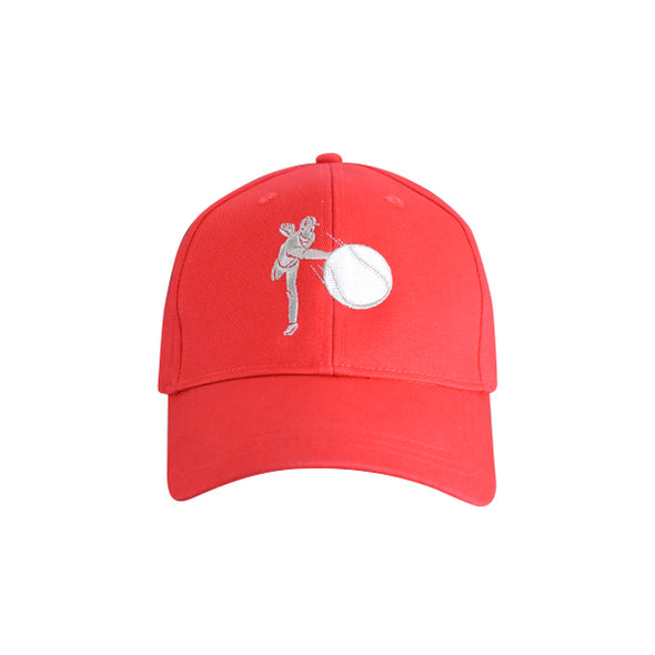 Baseball Pitcher Hat Red