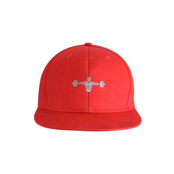 Weightlifter Flat Bill Urban Style Hat Red