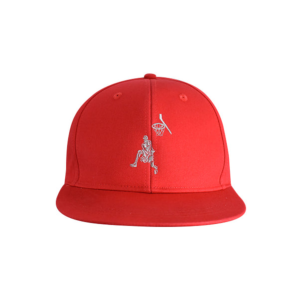 Basketball Flat Bill Urban Style Hat Red