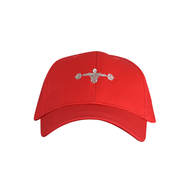 Weightlifter Baseball Hat Red